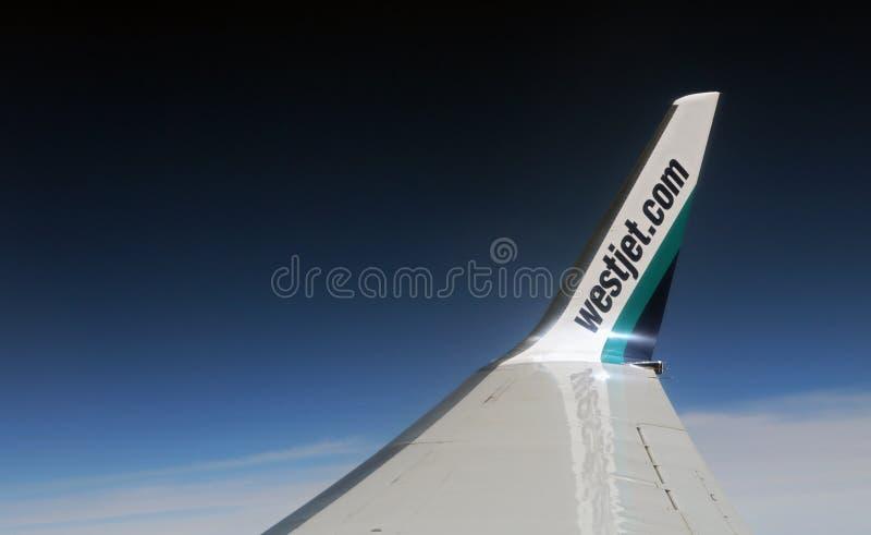 Westjet Wingtip arkivfoton