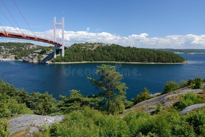 Westküste Swedishlandschaft lizenzfreie stockfotografie