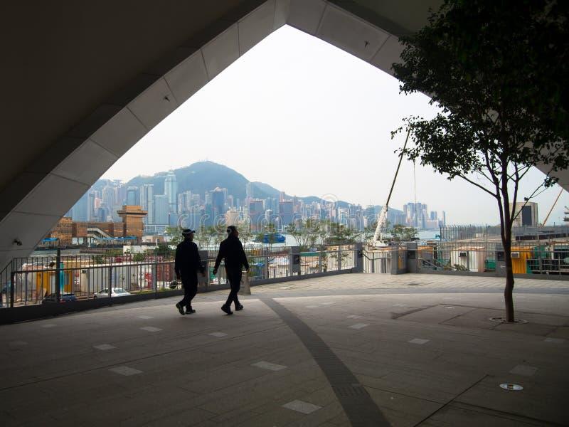 Westkowloon XiQu mitt i Hong Kong royaltyfria foton