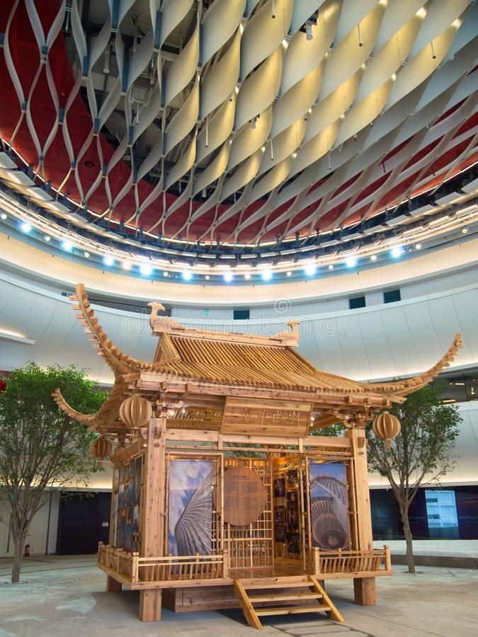 Westkowloon XiQu mitt i Hong Kong arkivbild