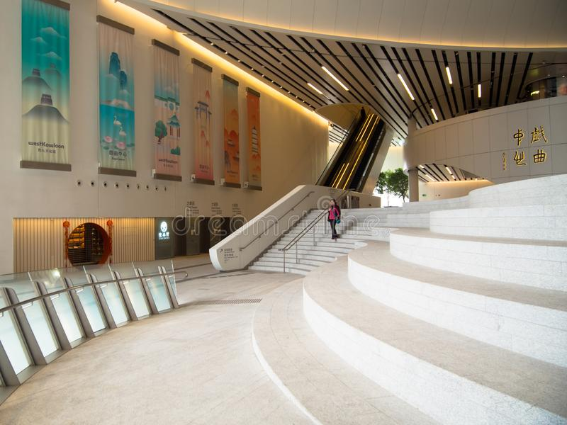 Westkowloon XiQu mitt i Hong Kong royaltyfri fotografi