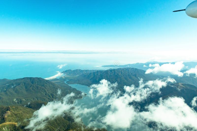 Westkust, Fiordland, Zuideneiland Nieuw Zeeland stock fotografie