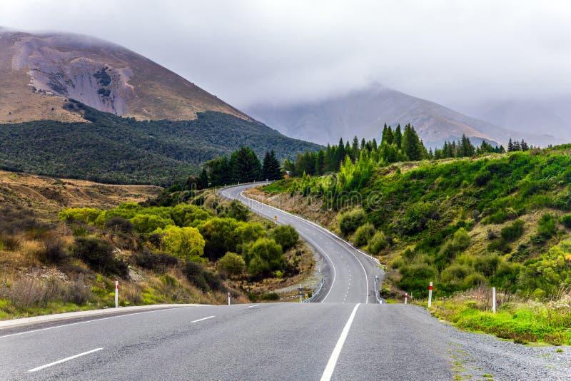 Westkust van het Zuideneiland Nieuw Zeeland stock foto's