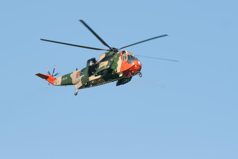 Westland Sikorsky Sea King MK-48. At the Luchtmachtdagen airshow at Leeuwarden Airfield in 2011 stock images