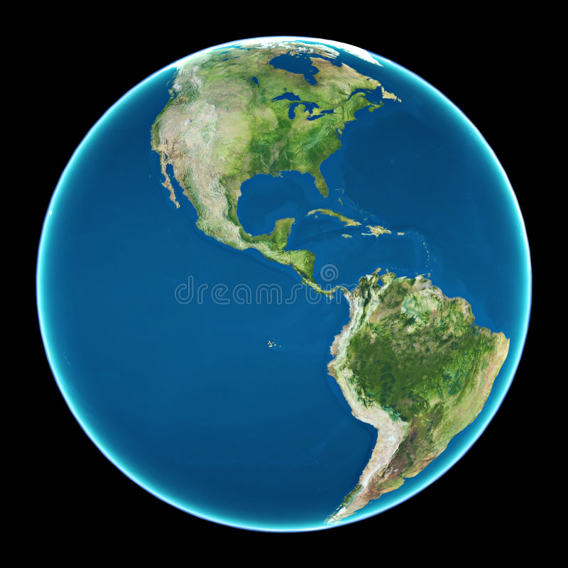 Westliche Hemisphäre lizenzfreie abbildung