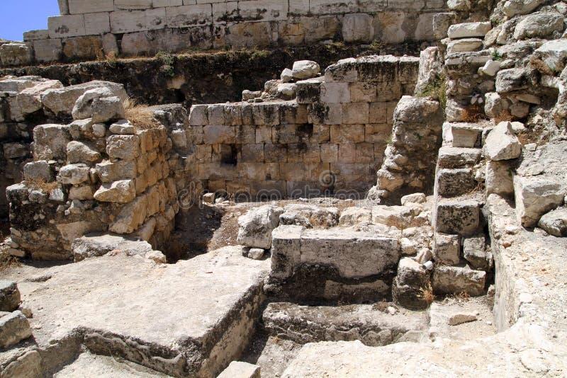 Westlicher Lichtbogen Wand Jerusalem-Robinson stockbild