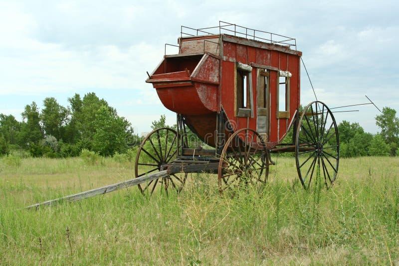 Westlicher Stagecoach stockbilder