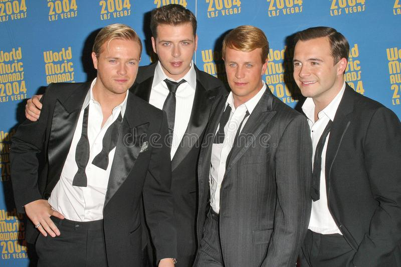 Westlife. At the 2004 World Music Awards in the Thomas Mack Arena at UNLV, Las Vegas, NV. 09-15-04 stock photography