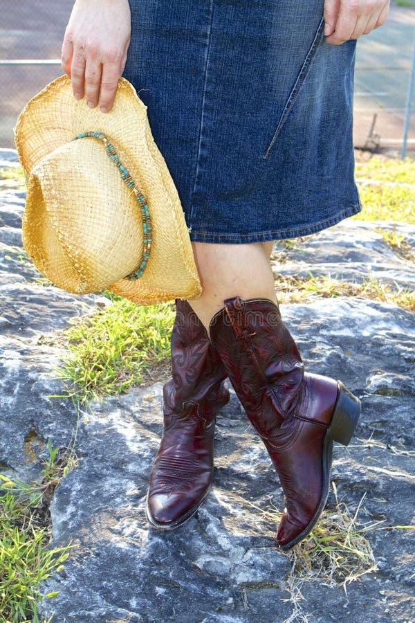 Westmädchen mit Hut lizenzfreies stockfoto