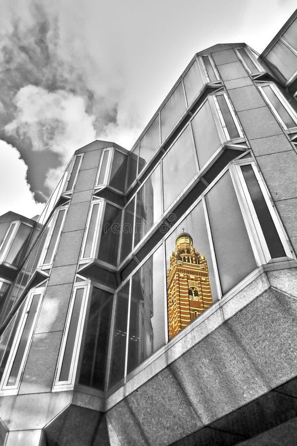 Westminister katedry odbicie zdjęcie royalty free