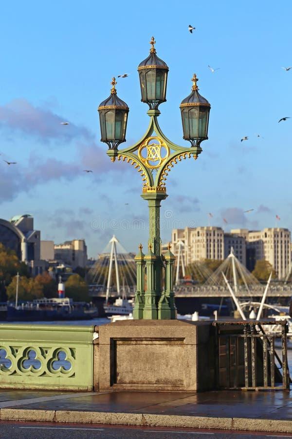 Westminister mosta lampion zdjęcia stock