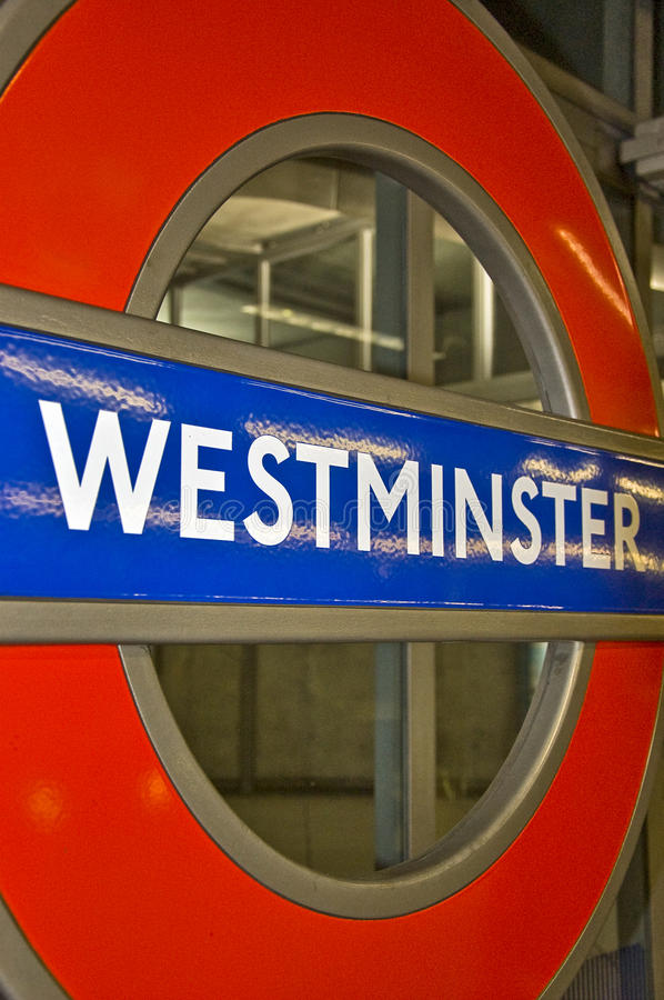 Westminster. London Tube station, westminster station stock photography