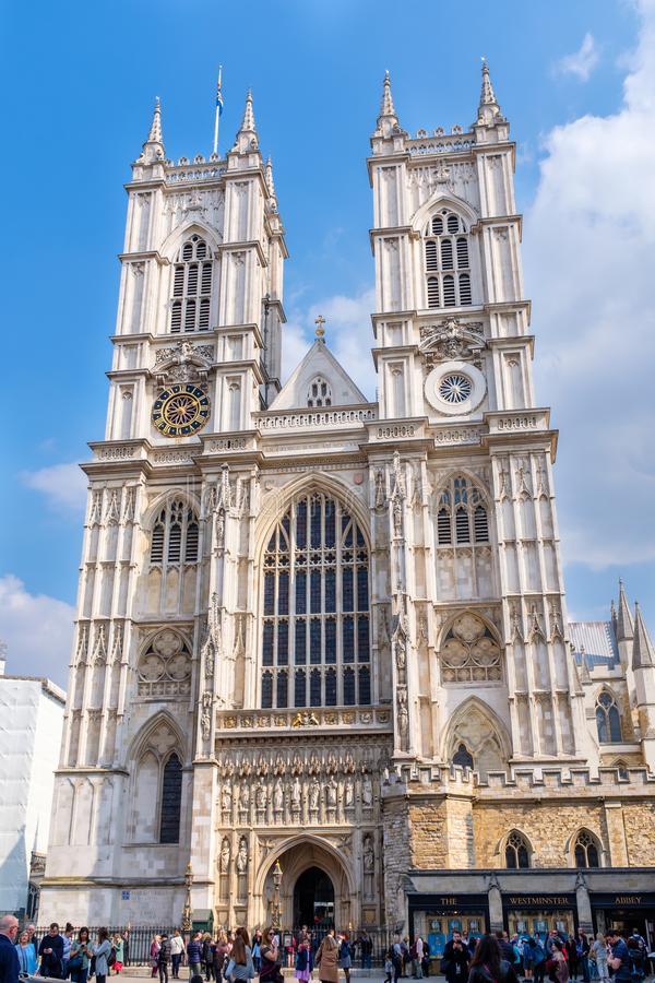 Westminster Abbey Cathedral em Londres central fotos de stock