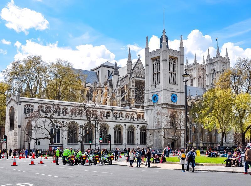 Westminster Abbey in center of London, UK stock photo