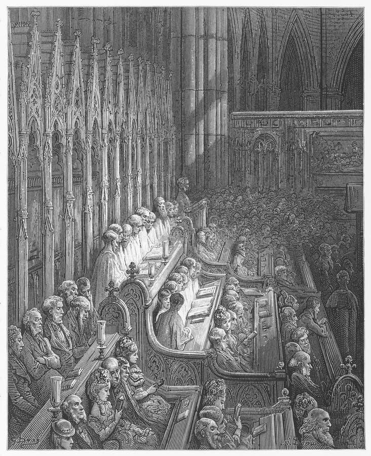 Westminster Abbey Choir royaltyfri fotografi