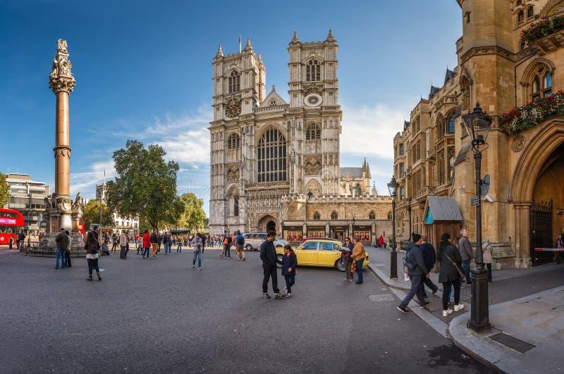 Westminster Abbey Church in Londen, het Verenigd Koninkrijk stock foto