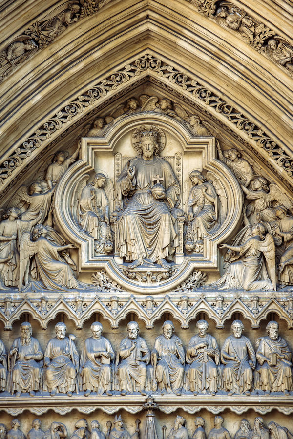 Free Westminster Abbey Entrance In London England Bas Relief Stock Photos - 39852453