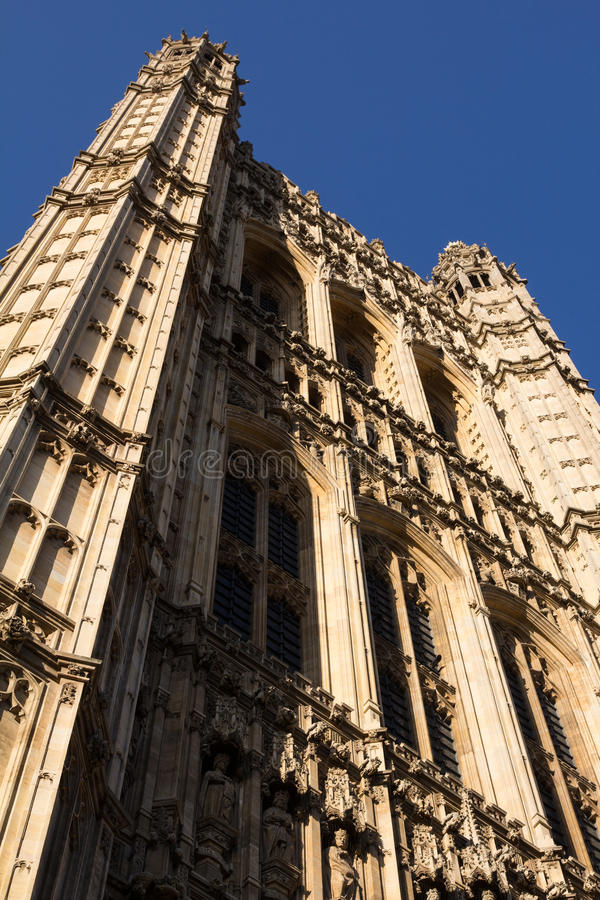 Westminster Abbey. Facade, London, England royalty free stock images