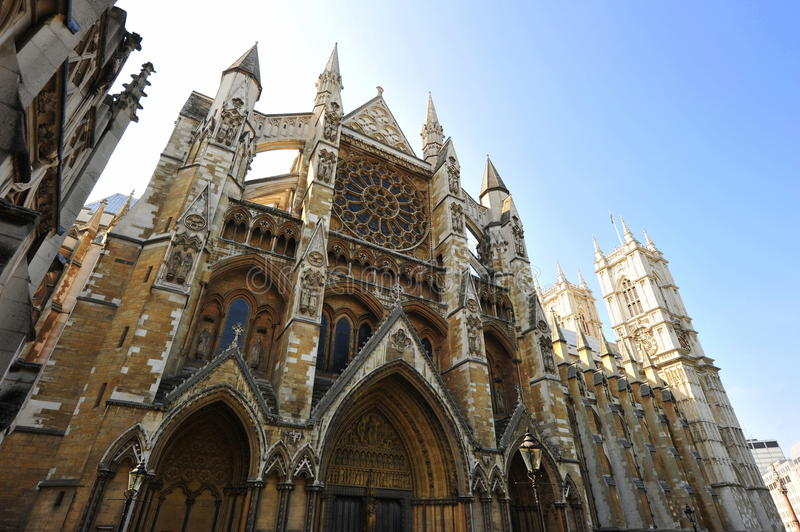 Westminster Abbey front facade royalty free stock photography