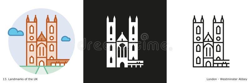 Westminster Abbey Icon ilustración del vector