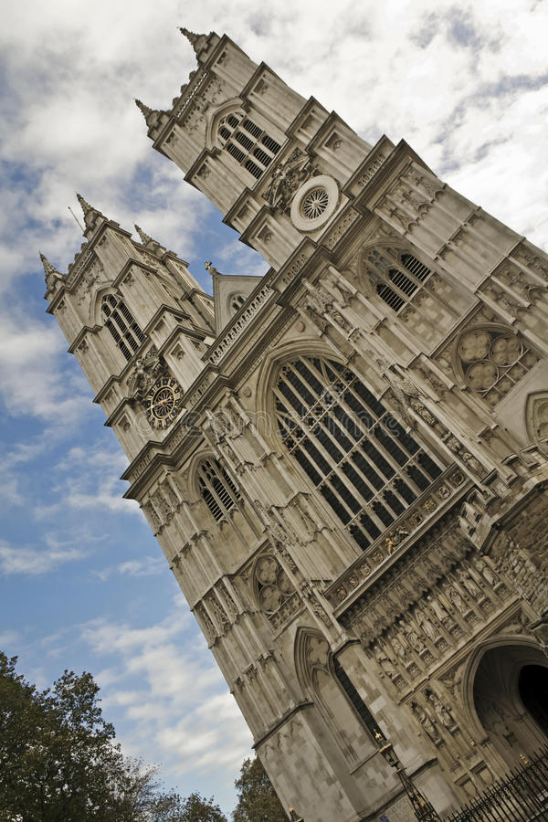 Westminster Abbey, London. Westminster Abbey is the traditional coronation and burial site for English monarchs stock images
