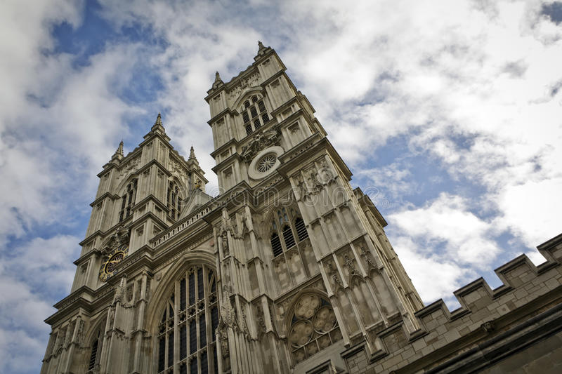 Westminster Abbey, London. Westminster Abbey is the traditional coronation and burial site for English monarchs stock photos