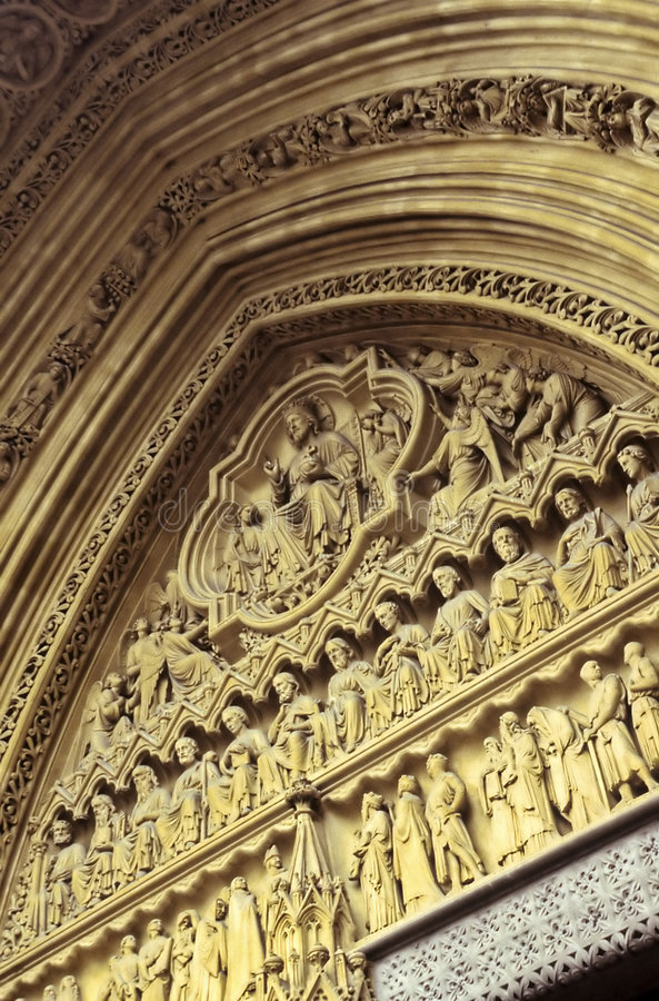Westminster Abbey- London, England stock photo