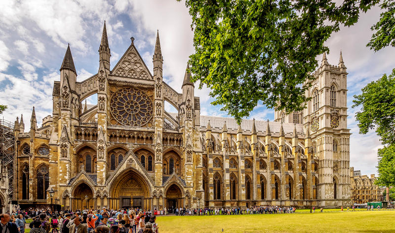 Westminster Abbey Panoramic fotos de stock