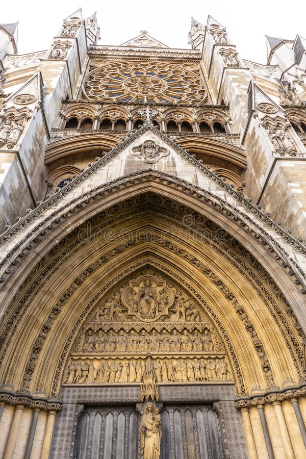 Westminster Abbey in Westminster, London, England, UK royalty free stock photo