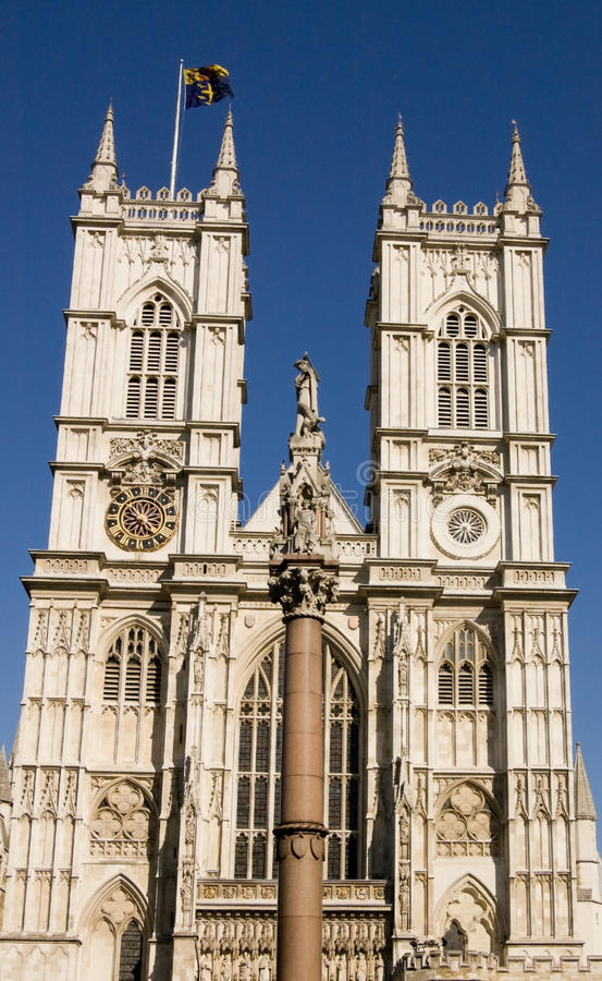 Westminster Abbeyfassade Stockfotos