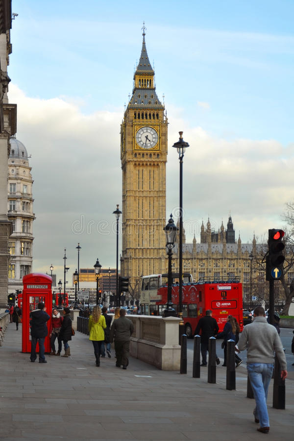 Westminster: Big Ben and Parliament view, London royalty free stock images