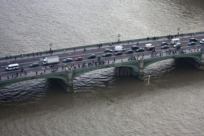 Westminster Bridge. Over the river Thames, London, England royalty free stock images