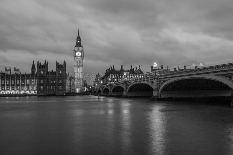 Westminster bridge and palace royalty free stock photos