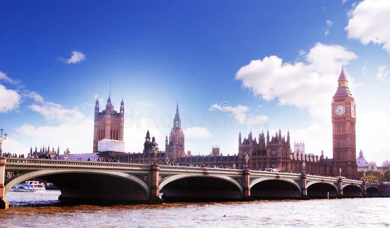 Westminster bro royaltyfria foton