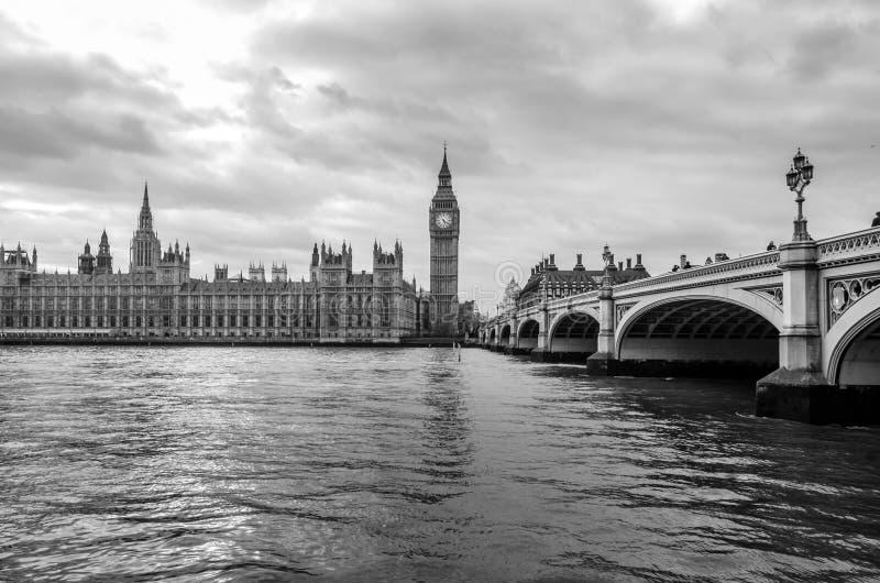 Westminster House of Parliament e Big Ben, Londra immagini stock libere da diritti