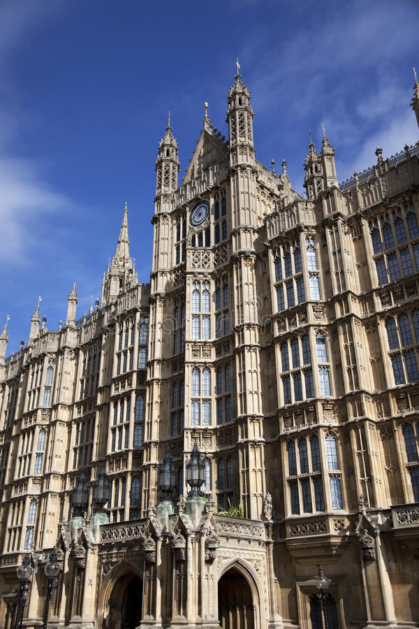 Westminster, Houses of Parliament in London royalty free stock photo