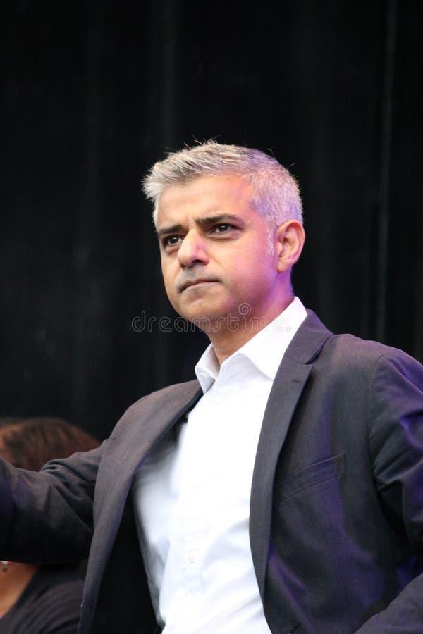 Sadiq khan, London, UK. 16th October, 2016. The Mayor of London Sadiq Khan opens Festival Of Dewali at Trafalgar Square. Sadiq khan, London, UK. 16th October royalty free stock photo
