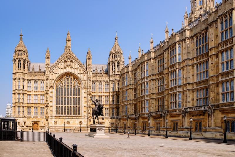 Westminster Palace of London old town. In United Kingdom. City capital of UK. England in spring. Cityscape at day royalty free stock images