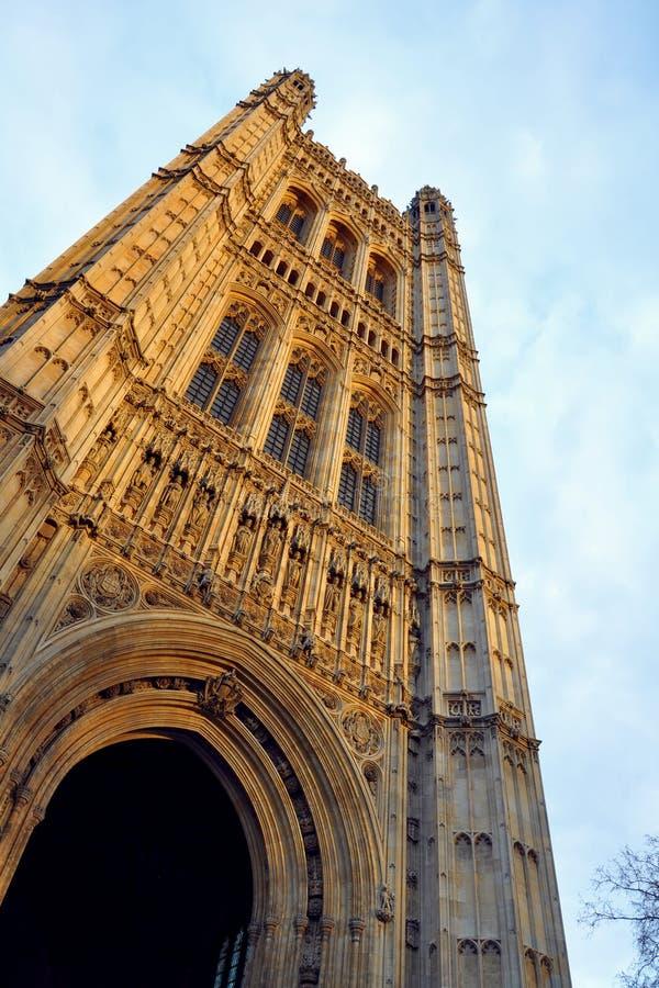 Westminster: Pico De La Torre Del Parlamento, Londres Imagen de archivo libre de regalías