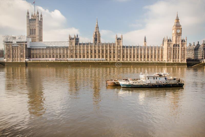 Westminster Themsen, Big Ben, London, England, UK royaltyfri foto