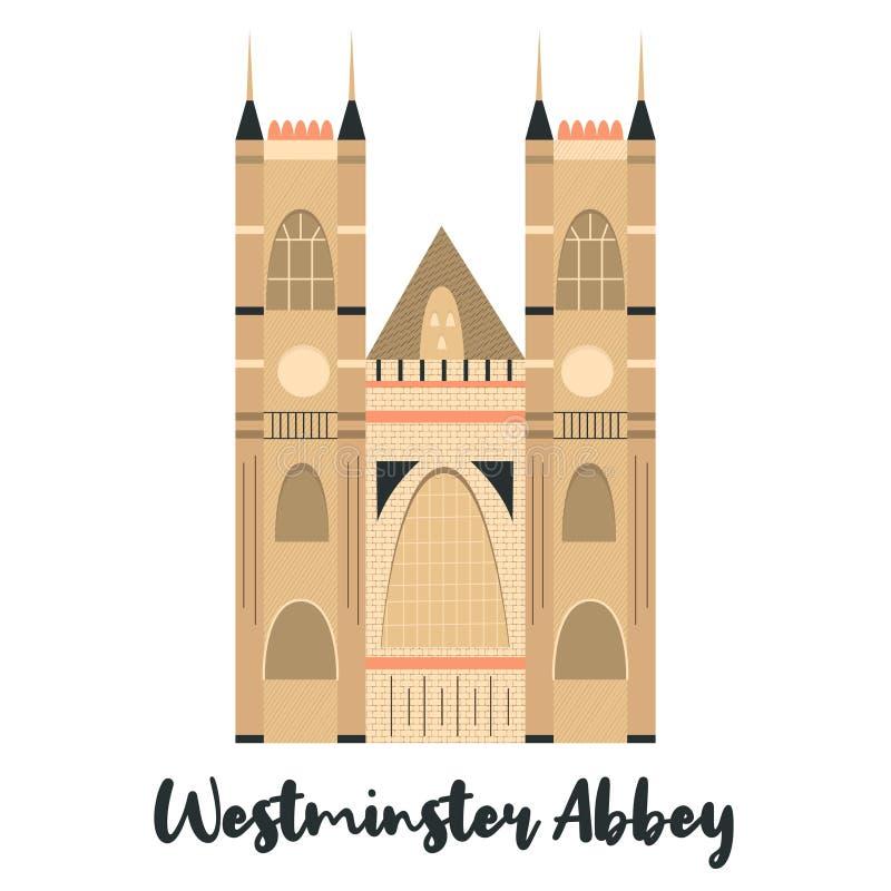 Westmister修道院伦敦著名地标 库存例证