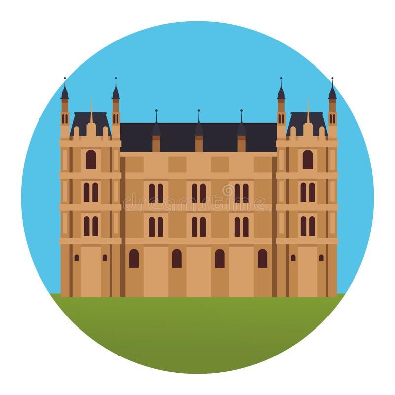 Westmister palace icon stock illustration