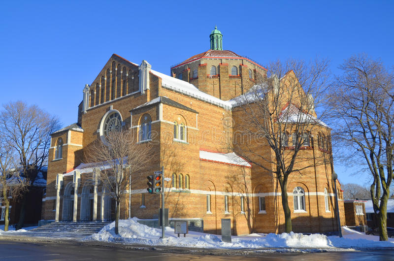 The Westmount Seventh-day Adventist Church. Is the oldest and largest Adventist church in Montreal, with more than 462 registered members. Montreal, Quebec royalty free stock image