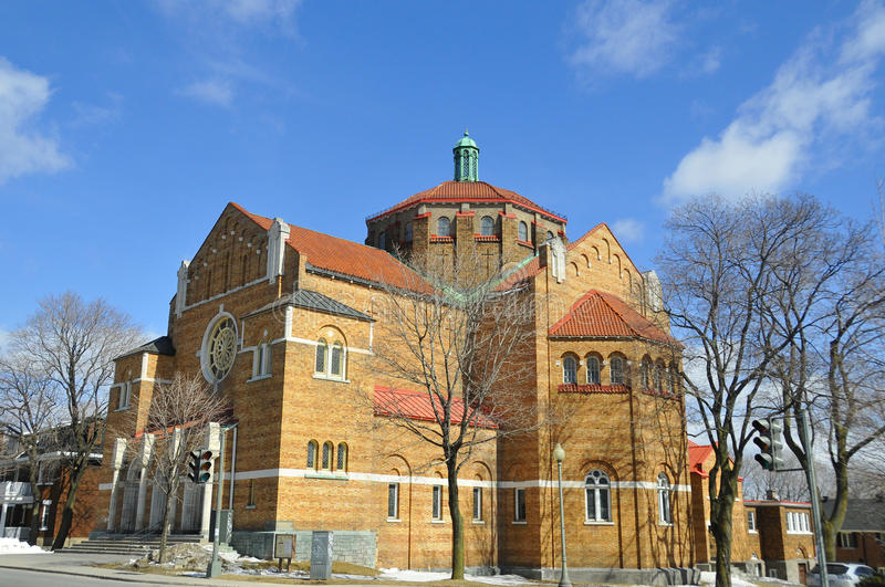 The Westmount Seventh-day Adventist Church. Is the oldest and largest Adventist church in Montreal, with more than 462 registered members. Montreal, Quebec royalty free stock images