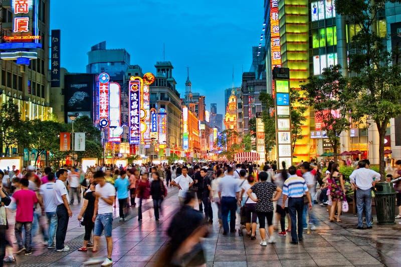 Westnanjing-Straße stockfoto
