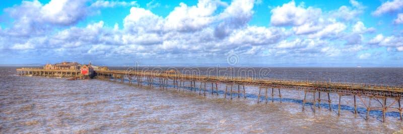 Weston-eccellente-giumenta Somerset England del pilastro di Birnbeck in HDR colourful fotografia stock libera da diritti