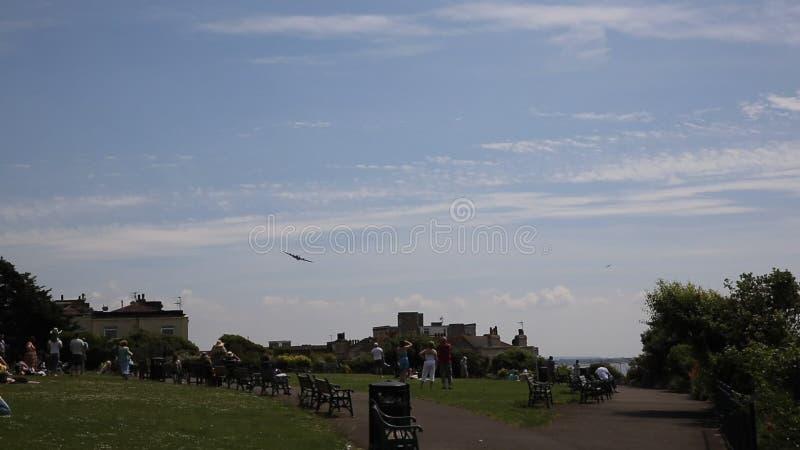 Weston-s-yegua de Sally B B17 Weston Air Festival de la fortaleza del vuelo almacen de metraje de vídeo