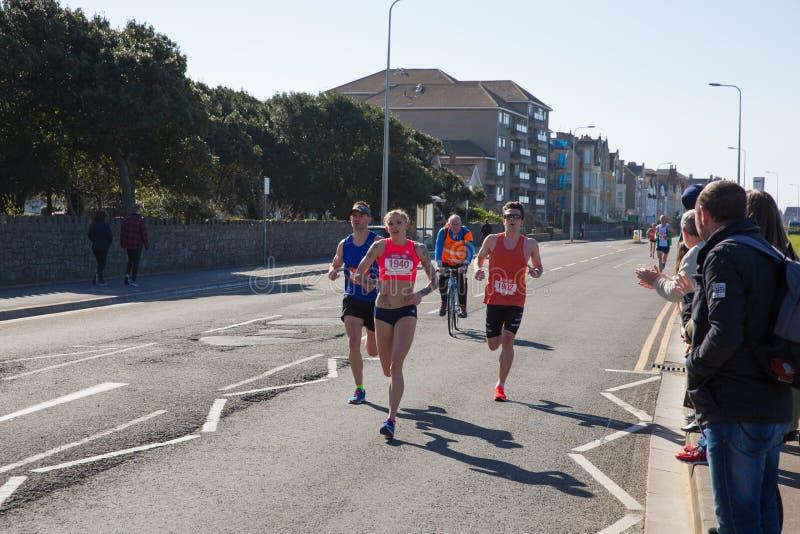 Weston Super-Halbmarathon Weston-Super-Stute Somerset am Sonntag, den 24. März 2019 stockbilder