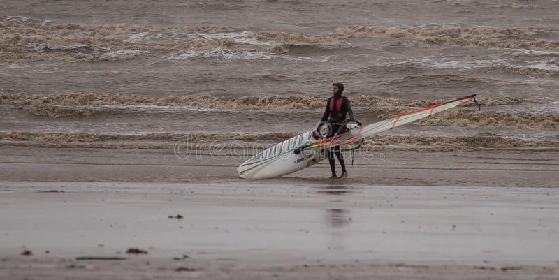 Weston Super Kobyli Kitesurfing obraz royalty free