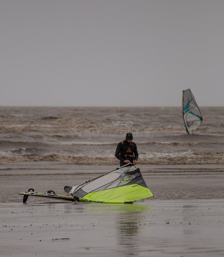 Weston Super Kobyli Kitesurfing zdjęcia stock